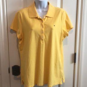 Tommy Hilfiger polo shirt, yellow sz XL